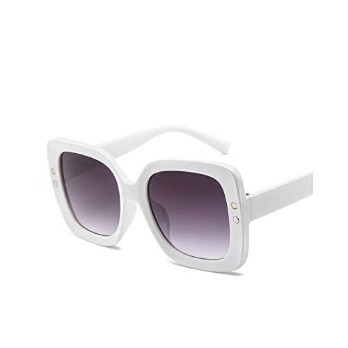 Klassische Sportsonnenbrille, Luxury Square Sunglasses Women Designer Summer Shades Black Vintage Oversized Sun Glasses For Women Female Ladies Sunglass White