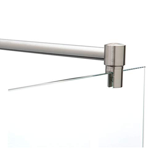 Stabilisierungsstange Dusche Edelstahl, Fixum Haltestange Stabilisationsstange (Stabistange), Glas-Wand, 100cm