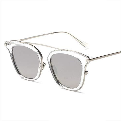 LJ Persönlichkeit Retro-Sonnenbrille Mit Rundem Gesicht Sonnenbrille Fahren Europa Und Amerika Retro-Sonnenbrille Brille Persönlichkeits-Mode (Farbe : Gray)