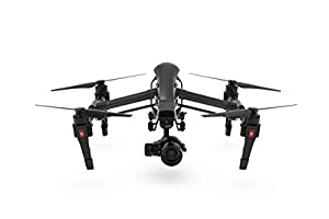 DJI Official Inspire 1 Aerial UAV Quadcopter Drone with Built-In 4K Full HD Video Camera and Single Remote Controller (Black) by DJI