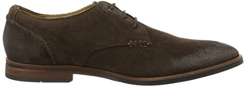 Clarks Broyd Walk, Derby Homme Marron (Dark Brown Suede)