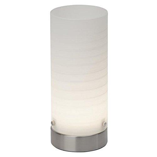 Brilliant Tischleuchte, Glas, Intégré, 3 W, Eisen / Weiß, 8.5 x 8.5 x 20 cm