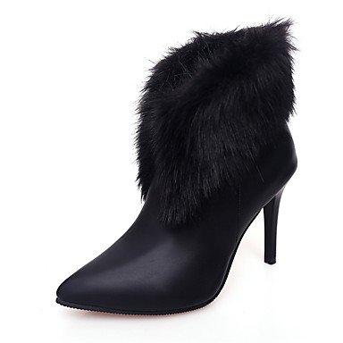 Moda Donna Sandali Sexy donna tacchi Primavera / Estate / Autunno / Inverno Platform in microfibra vello / Esterni / Party & Sera / Casual Chunky Heel Nere / Mandorla Black