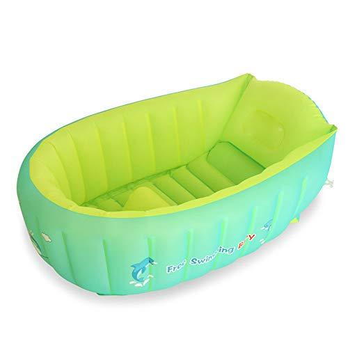 Aufblasbares Babybecken Selbstgesteuertes Aufblasbares Schwimmbecken Babywanne Unterhalb Der Unterstützung Ist So Konzipiert, Fest Unterstützt Werden (Color : Blue, Size : 75 * 50 * 25cm)