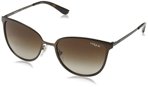 Vogue Eyewear Damen 0VO4002S 934S13 55 Sonnenbrille, Braun (Matte Brown Burnt/Browngradient),