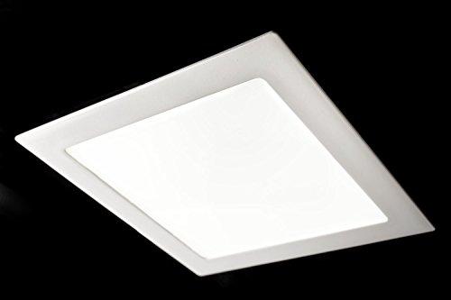 Preisvergleich Produktbild GedoTec® Design LED-Deckenleuchte Deckenlampe PALLADIO 2.0 Aluminium weiß | Größe 180 x 180 x 22 mm | LED-Leuchte Energieeffizienz A++ | Einbauleuchte warmweiß 3000 K | Leistung 14W - 230V | Professionelles Downlight zur Beleuchtung von Verkaufsräumen | Markenqualität für Ihren Wohnbereich