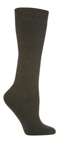 Socksnob laine dames mélange wellington chaussettes de démarrage vert taille 37-42 (DJ Welly Green)