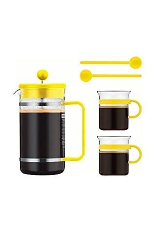 Bodum BISTRO SET Kaffeebereiter 1,0 L Glas Gelb