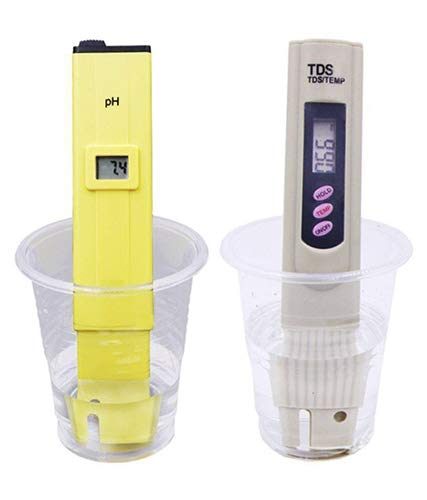 "Shapure Ph & Tds Meter Combo with ±0.1Ph 0.6"" LCD Mini Digital Pen Style Ph-Meter Set"