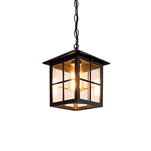 Tkbily Lámpara colgante de vidrio al aire libre Sombra Impermeable ...