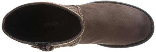 Geox Jr Sofia, Boots fille Marron (Coffee)