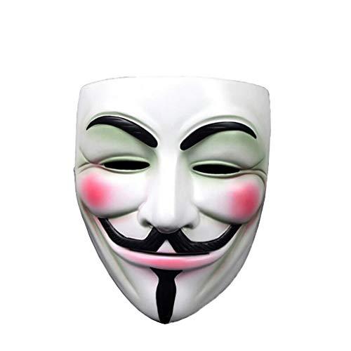 WYDM Hochwertiges vorzügliches Harzmaskengeiermaske-Horrorgesicht (Farbe : Weiß)