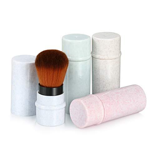 4 Einziehbar Puderpinsel Set Schminkpinsel Zart Kosmetik Foundation Bürste Puder Rouge Pinsel...