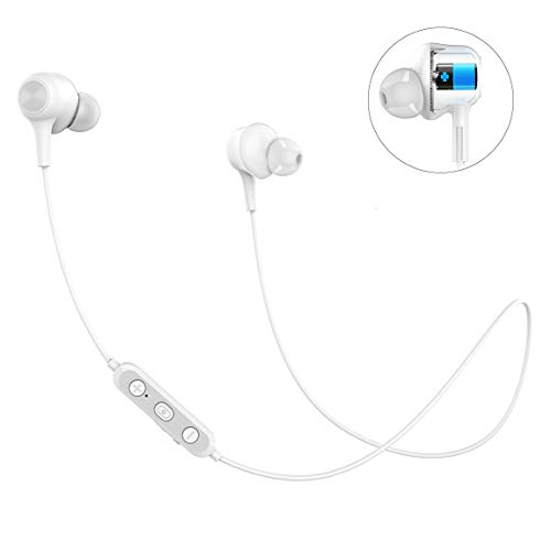 Langsdom - Auriculares inalámbricos Bluetooth 5.0 deportivos con micrófono HD estéreo y auriculares magnéticos ligeros con 6 - 7 horas de tiempo de reproducción para entrenamientos