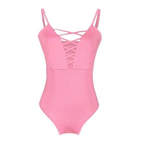 Ba Zha Swimwear -  Costume intero  - Donna Pink