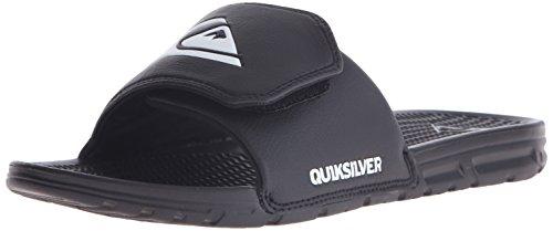 Quiksilver Men s Shoreline Adjustable Slide Sandal Black/Black/White 13 D(M) US