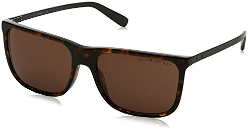 Ralph lauren 0rl81570373, occhiali da sole uomo, marrone (dark havana/brown), 58