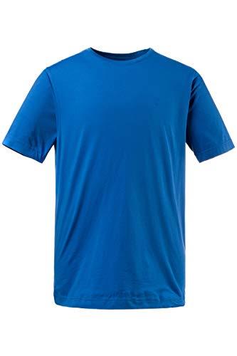 JP 1880 Herren große Größen bis 8XL, T-Shirt, JP1880-Motiv auf der Brust, Basic-Shirt, Rundhalsausschnitt, Reine Baumwolle, tiefblau L 702558 74-L - Große Mens T-shirt