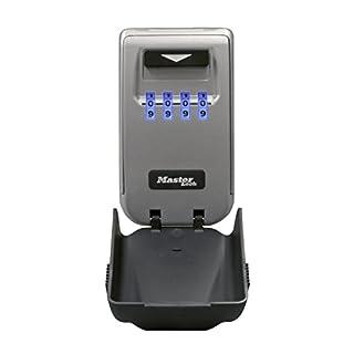 MASTER LOCK Light Up Dial Key Safe [Medium Size] [Wall mounted] - 5425EURD - Weatherproof Key Lock Box