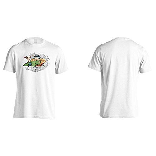 Geisha Divertente Novità Giapponese Japan Uomo T-shirt ss4m White