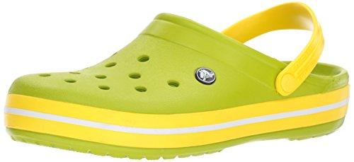 (Crocs Unisex-Erwachsene Crocband Clog, Grün (Volt Green/Lemon), 43/44 EU)