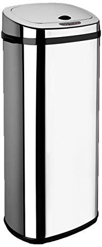 Dihl Abfalleimer mit automatischem Deckel, rechteckig, 50l, Chrom