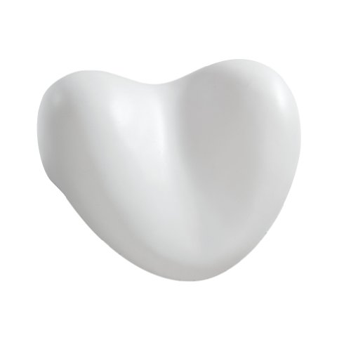WENKO 18936100 Kopf- und Nackenkissen Tropic White, Kunststoff - Polyurethan, 25 x 11 x 20.5 cm, Weiß