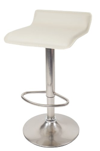 DF Sales Lamboro Baceno Brushed Bar Stool, Cream