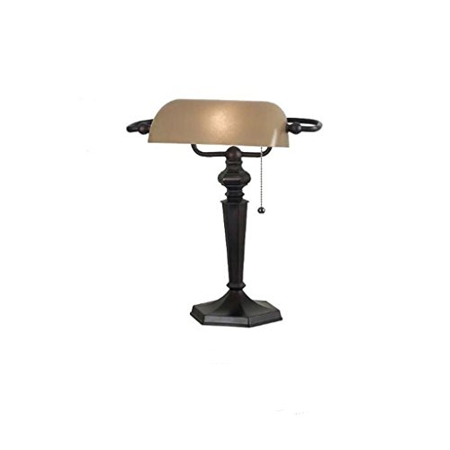 Briskaari Shop- Bank Lights Export American Bronze Schreibtischlampe Vintage Studie Arbeit Leselampe Republik China Alte Shanghai Lampe Tisch- & Nachttischlampen (Farbe : B)