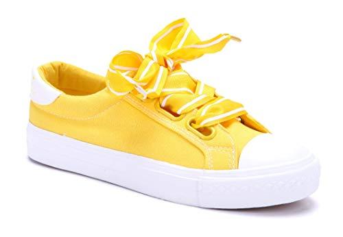 Schuhtempel24 Damen Schuhe Low Sneaker gelb flach