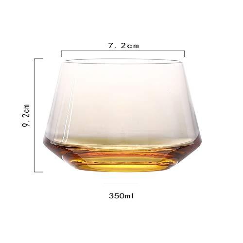 Neuheit Weingläser Saft Gläser Blume Glas Tassen Tee Cappuccino Tassen Bier Gläser Bar Cheers Party Set 2 , Gelb