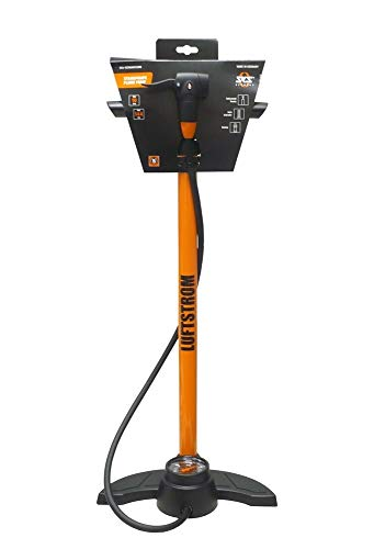 SKS Powerstation Luftstrom Standpumpe Fahrradpumpe Rennkompressor orange