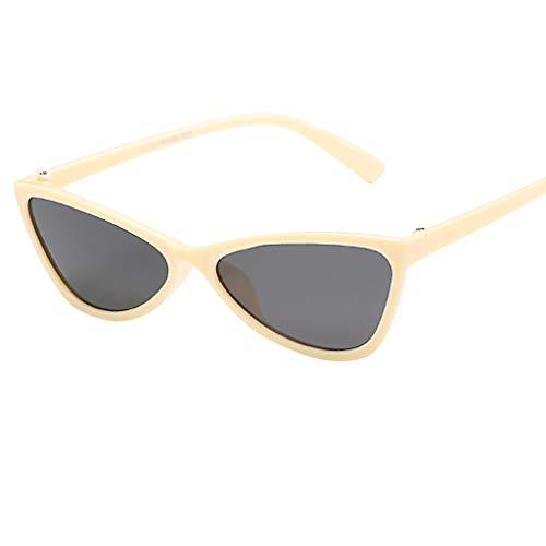 REALIKE Unisex Damen Herren Vintage Retro Katzenauge Brille Sonnenbrille Mode Super Coole Damenbrillen Frauen Women Rot Cat Eye Sunglasses Travel Eyewear