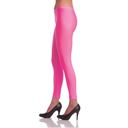 Damen Legging neon-pink Gr. S/M Kostüm Zubehör Fasching Karneval (80er Jahre Zumba Kostüm)