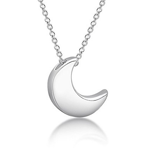 miss x Halskette mit Mond-Anhänger 925 Sterlingsilber (Mond Halskette Anhänger)