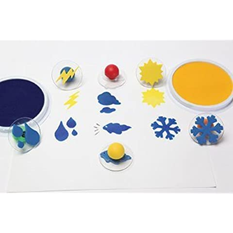 Set of 6 Weather Giant Rubber Stampers