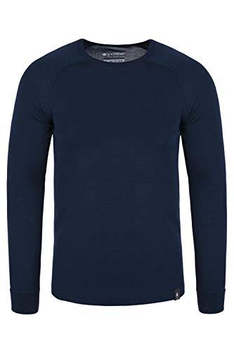 Mountain warehouse merino - maglia termica manica lunga uomo - tessuto antibatterico, asciugatura rapida - ideali per inverni freddi blu navy large