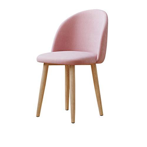 chenyang86 Chaise - en bois massif, maison simple, dossier fermé, chaise pour restaurant, adulte (Couleur : Pink, taille : 44 * 47 * 77cm)