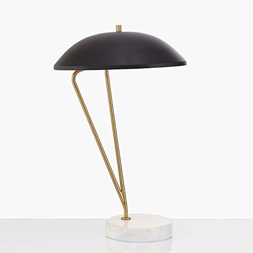 Neue Ankunft LED Schreibtisch Lampen Tisch Dekoration Licht Post moderne schwarze Eisen Schatten Marmor Basis Studie Foyer Antik Gold Leselampe, Gold und Schwarz