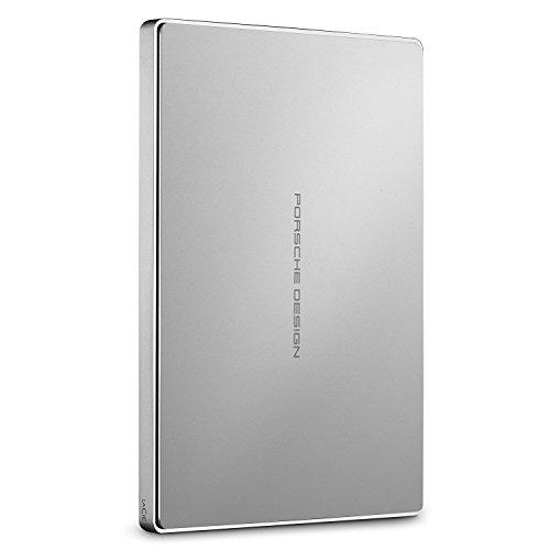 Lacie Porsche Design Mobile Drive 2,5 Zoll USB 3.0 Tragbare Aluminium Festplatte - recertified, Kapazität:1.000GB (1TB), Farbe:Silber