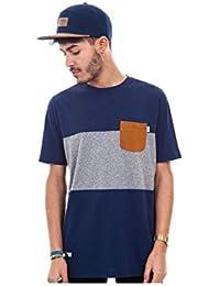 T-shirt Wrung Tricolore Dark Heather Blue