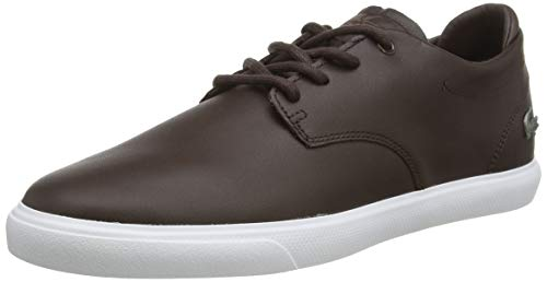 Lacoste ESPARRE BL 1 CMA, Zapatillas para Hombre, Marrón Dark Brown/White, 45 EU