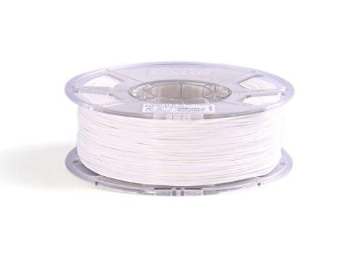 eSun 3D Filament - PLA, 1Kg, 1.75 / 3.00 mm - Verschiedene Farben, Druck Tempe. 190-220℃, für 3D Drucker z.B. MakerBot RepRap MakerGear Ultimaker Mendel Huxlep UP Thing-o-matic, Universal (1.75, Kaltweiß/Weiß) - Verschiedene Druck -