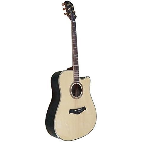 HONSING® guitarra acústica de 41 pulgadas / chipping barril okoume manejar las importaciones de corea del sur de cadenas de cobre HS-4111CS-NT (Color madera)