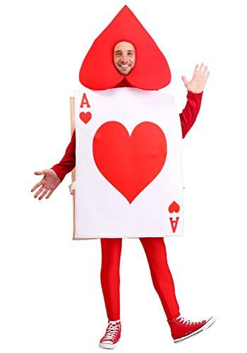 Adult Ace of Hearts Fancy Dress Costume Standard