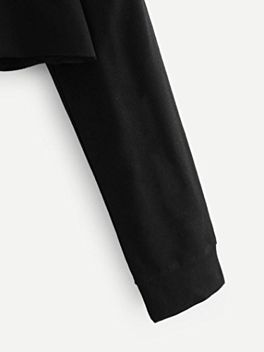 sweat femme a capuche chat fille pull femme hiver chic courte FRYS mode manteau femme grande taille vetement femme pas cher fashion sport chemisier Fille blouse femme Printemps casual Noir