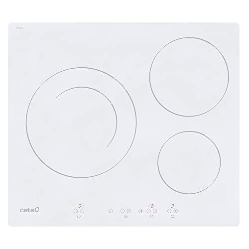 CATA IB 6203 WH Integrado Con - Placa Integrado, Con placa de inducción, Blanco, 1200 W, Alrededor...