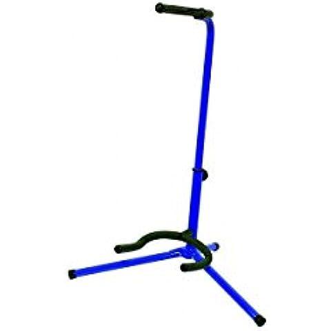 BSX 518052 - Soporte para guitarra acústica y eléctrica, color azul