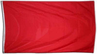 Flagge Einfarbig Rot - 90 x 150 cm