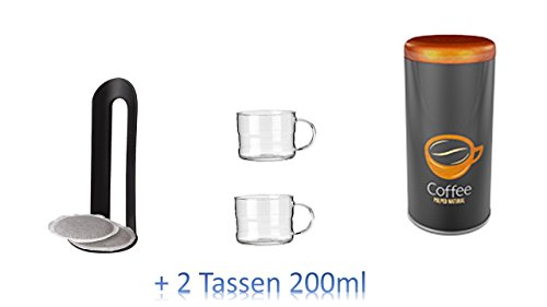 Metalldose Dose Kaffeedose Coffee Pads rund Ø ca. 8x18 cm Metalldosen Kaffee Dosen AKTION MIT...